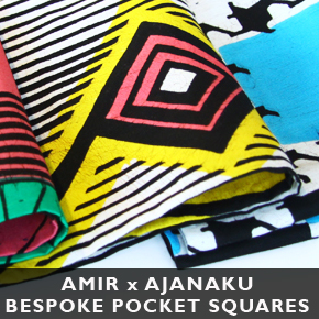 AMIR x AJANAKU Bespoke Pocket Squares