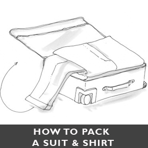 How to pack a suit!