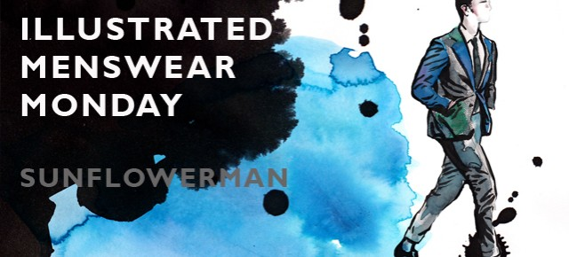 ILLUSTRATED MENSWEAR MONDAY: SUNFLOWERMAN